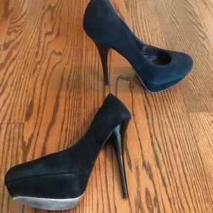 Black platform stilettos